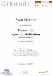 Trainer für Sportrehabilitation